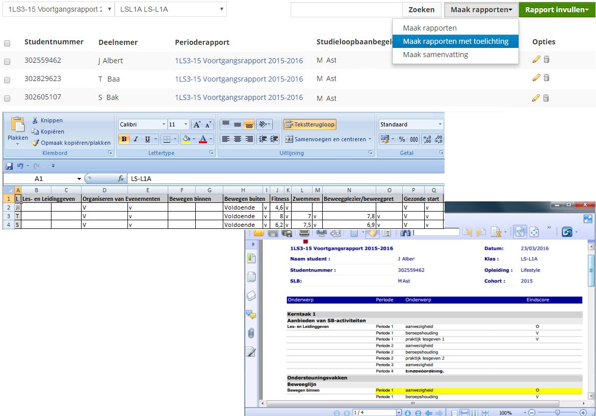 Resultaatbeheer- en rapportage web app