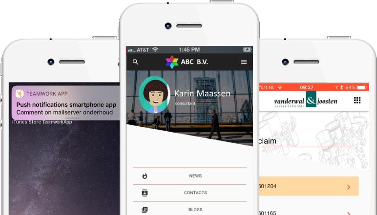 Custom features mogelijk in nieuwe PortalCMS app voor iOS en Android.