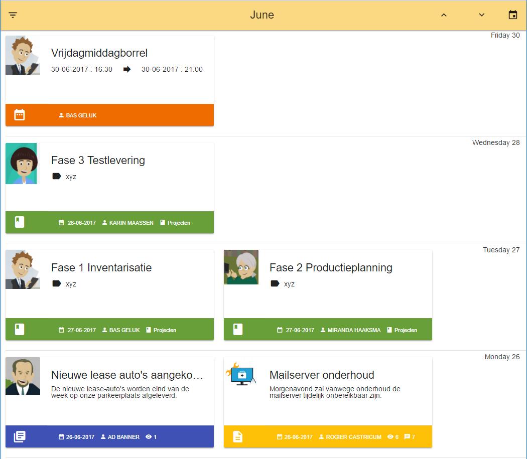 PortalCMS Timelineview (klik om te vergroten)